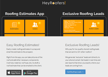 HeyRoofers Roofing Estimates App & Roofing Leads